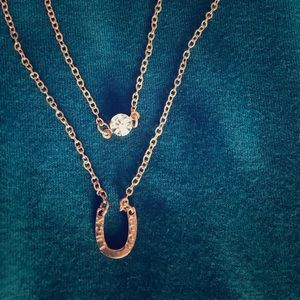 Jewelry - Horseshoe and solitaire necklace